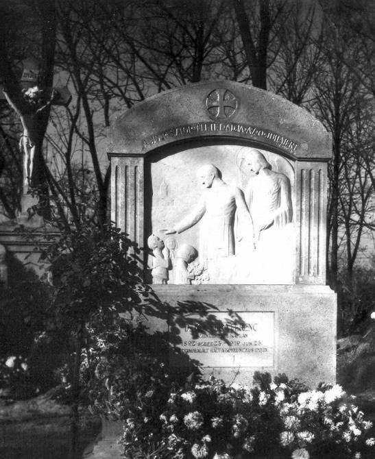 temetőben